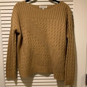 caramel cable knit sweater